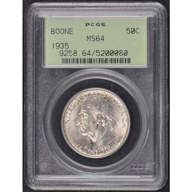 BOONE 1935 50C Silver Commemorative PCGS MS64