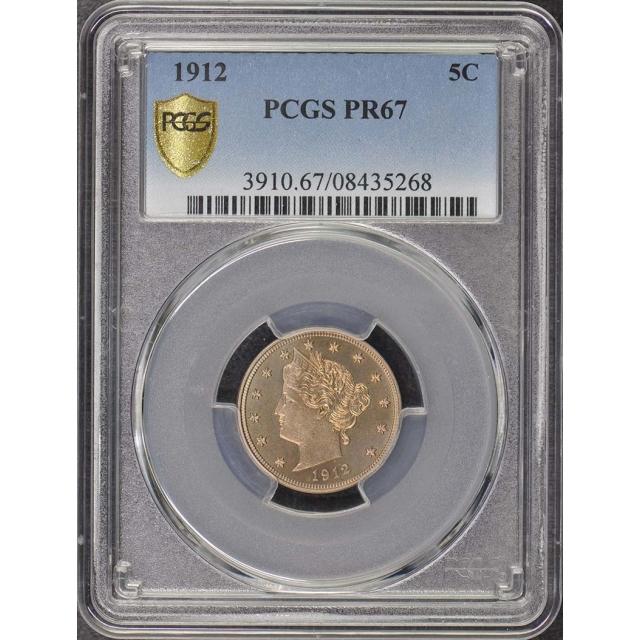 1912 5C Liberty Nickel PCGS PR67