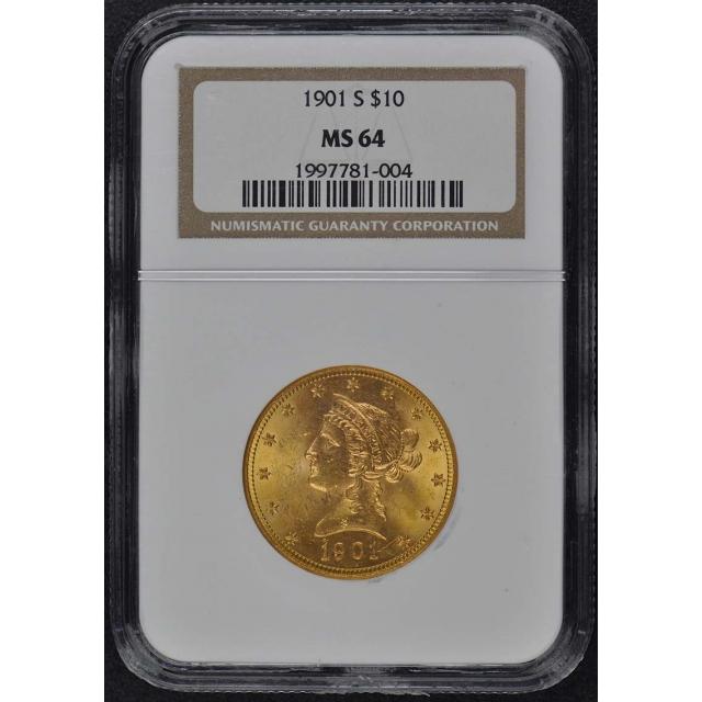1901-S Eagle - Motto $10 NGC MS64