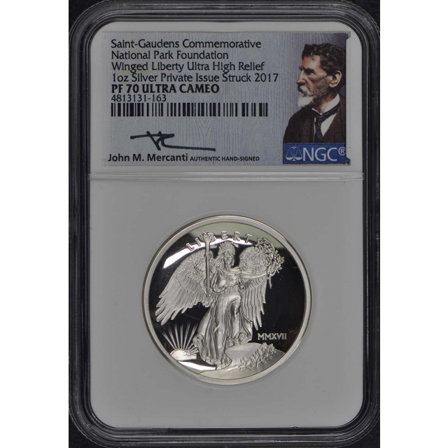 2017 1 oz Silver Winged Liberty Ultra HR NGC PF70 Ultra Cameo