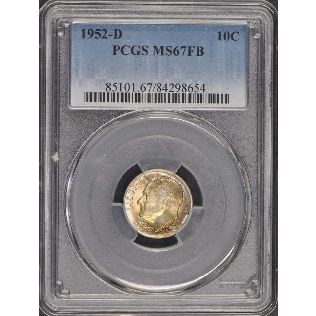1952-D 10C Roosevelt Dime PCGS MS67FB