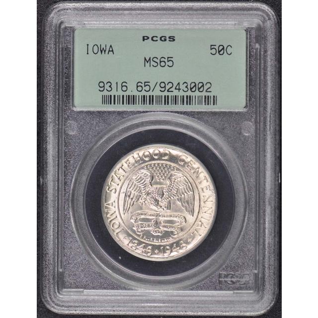 IOWA 1946 50C Silver Commemorative PCGS MS65
