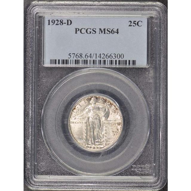 1928-D 25C Standing Liberty Quarter PCGS MS64