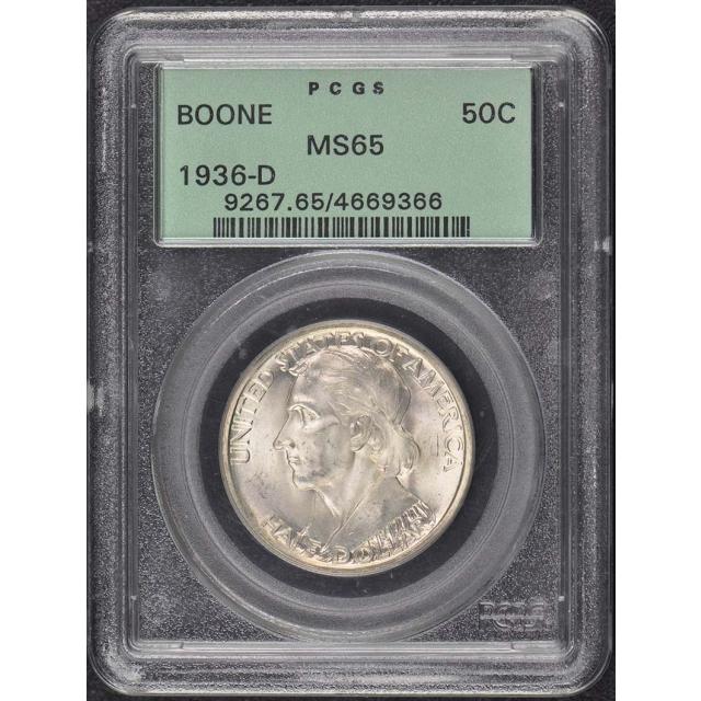 BOONE 1936-D 50C Silver Commemorative PCGS MS65