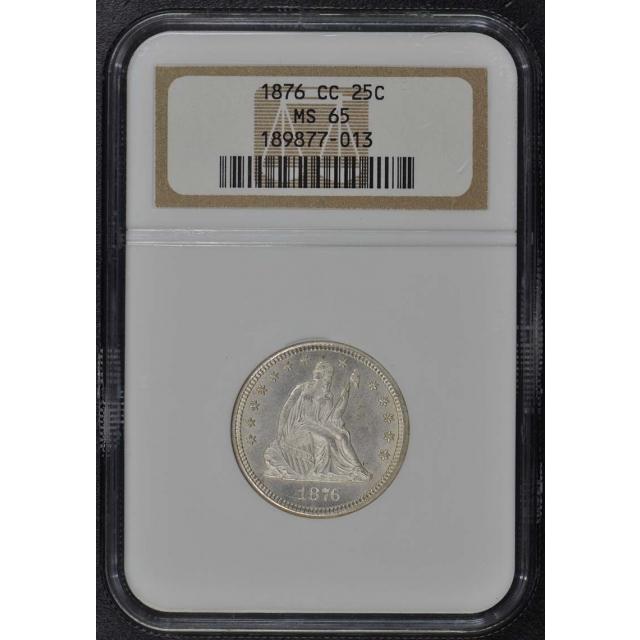 1876-CC Seated Liberty Quarter 25C NGC MS65