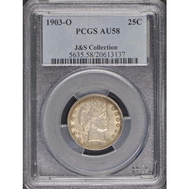1903-O 25C Barber Quarter PCGS AU58
