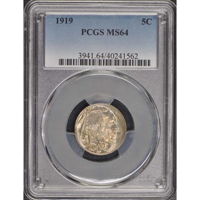 1919 5C Buffalo Nickel PCGS MS64