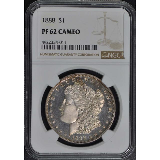 1888 Morgan Dollar S$1 NGC PR62CAM