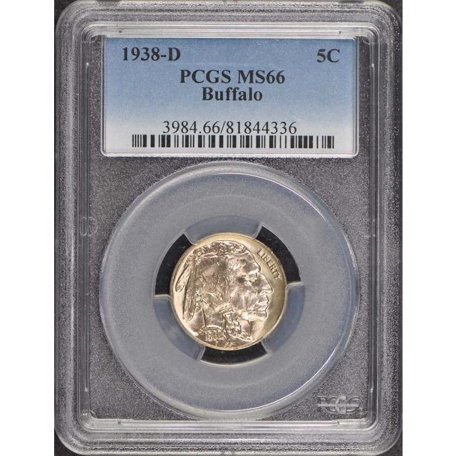 1938-D 5C Buffalo Nickel PCGS MS66