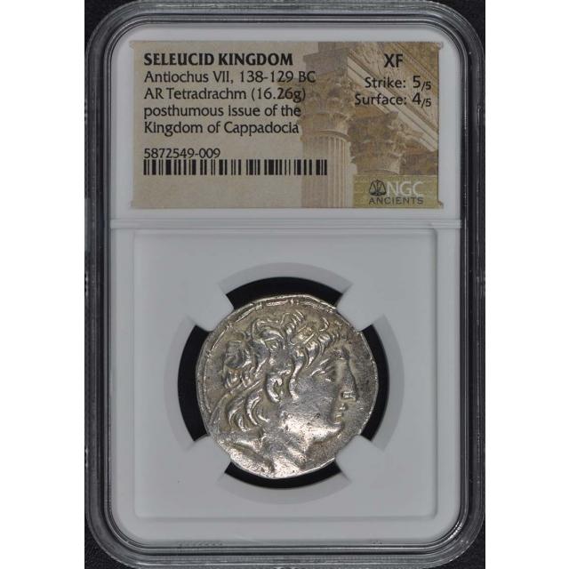138-129 BC Antichus VII Seleucid Kingdom NGC XF45