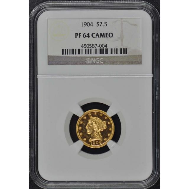 1904 Quarter Eagle $2.50 NGC PR64CAM