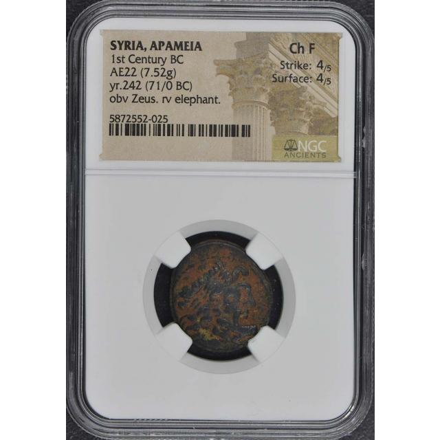 1st Century BC SYRIA, APAMEIA AE22 NGC F15
