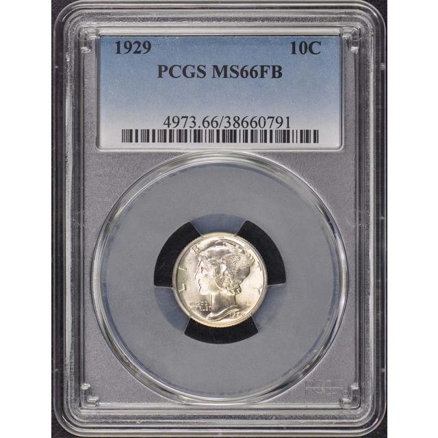 1929 10C Mercury Dime PCGS MS66FB
