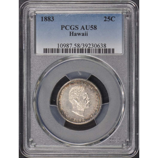 1883 25C Hawaii PCGS AU58