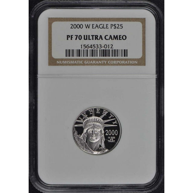2000 W EAGLE P$25 NGC PR70DCAM
