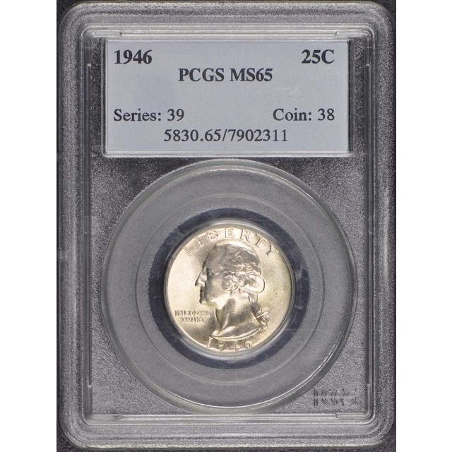 1946 25C Washington Quarter PCGS MS65