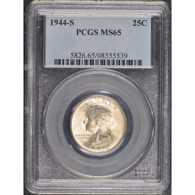 1944-S 25C Washington Quarter PCGS MS65