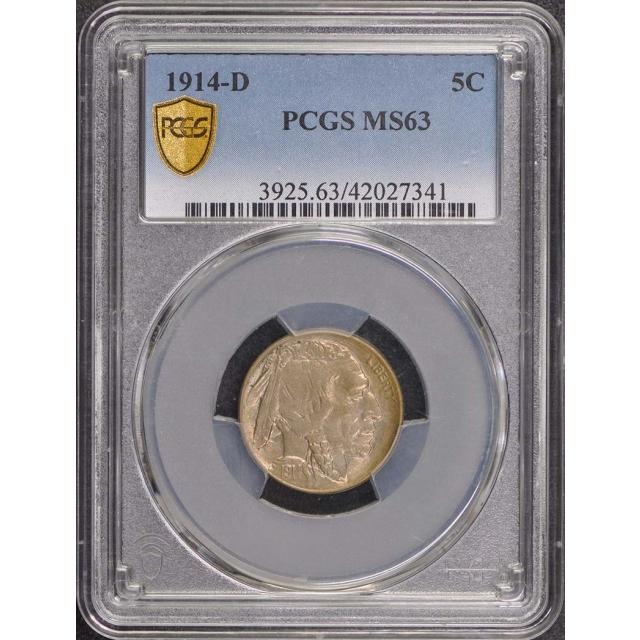 1914-D 5C Buffalo Nickel PCGS MS63