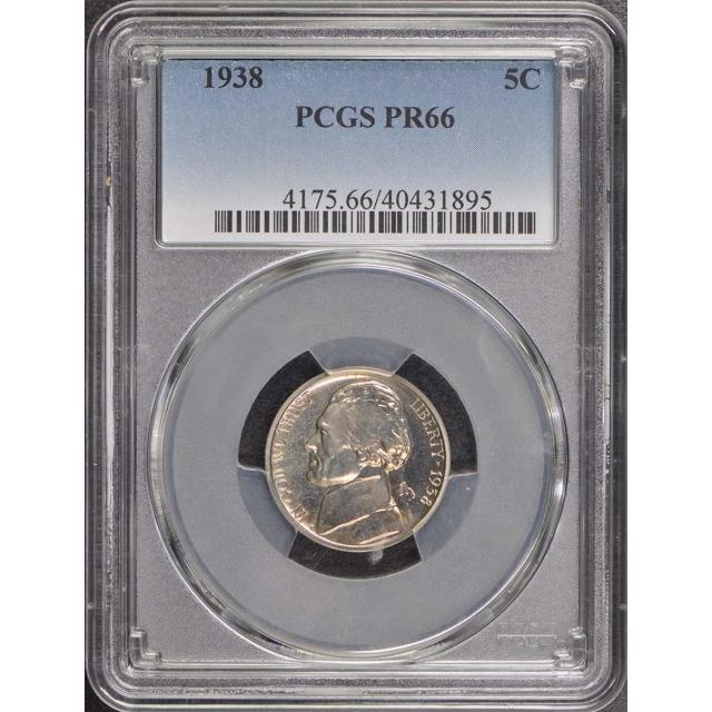 1938 5C Jefferson Nickel PCGS PR66