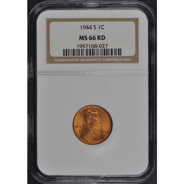1944-S Wheat Reverse Lincoln Cent 1C NGC MS66RD
