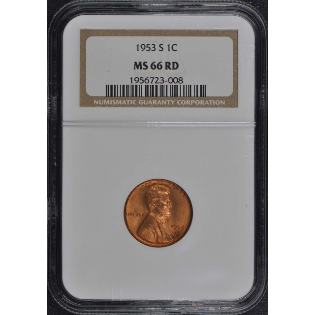 1953-S Wheat Reverse Lincoln Cent 1C NGC MS66RD