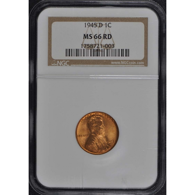 1945-D Wheat Reverse Lincoln Cent 1C NGC MS66RD