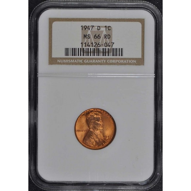 1947-D Wheat Reverse Lincoln Cent 1C NGC MS66RD
