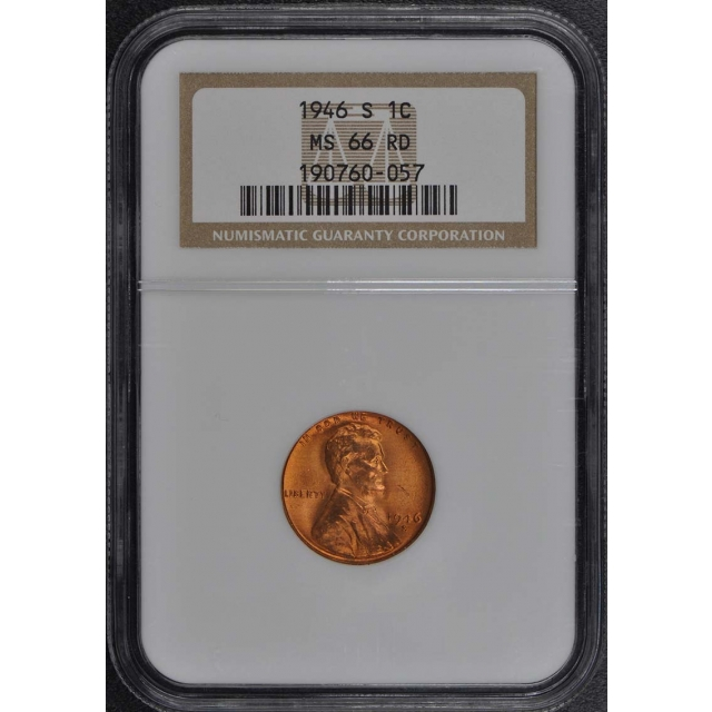 1946-S Wheat Reverse Lincoln Cent 1C NGC MS66RD