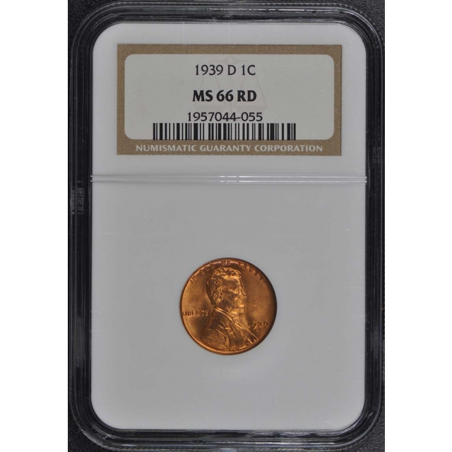 1939-D Wheat Reverse Lincoln Cent 1C NGC MS66RD