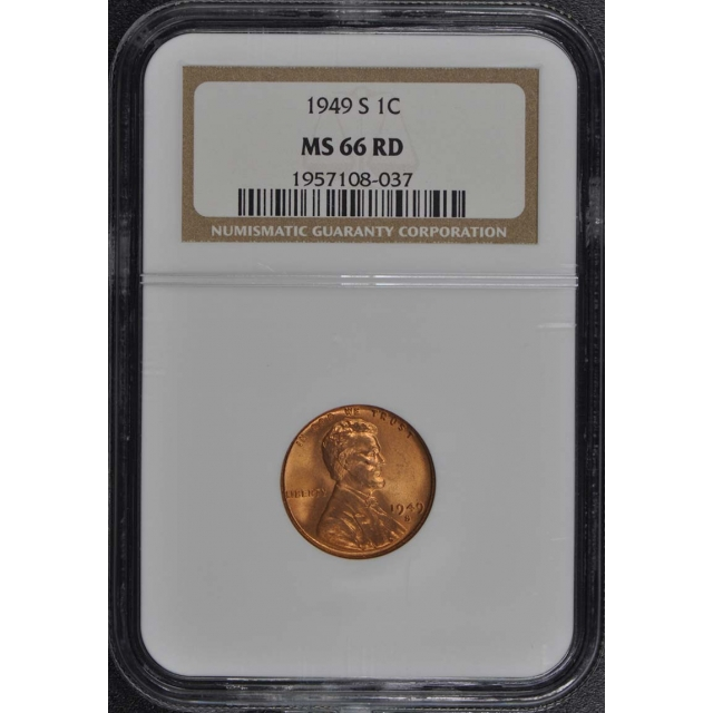 1949-S Wheat Reverse Lincoln Cent 1C NGC MS66RD