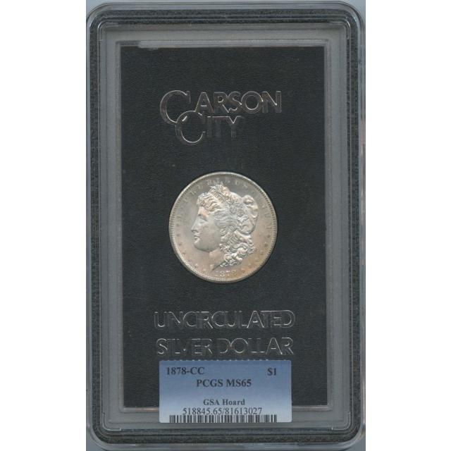 1878-CC Morgan Dollar GSA Hoard S$1 PCGS MS65