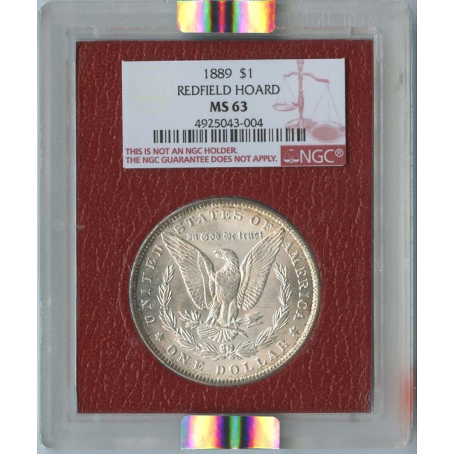 1889 $1 Morgan Dollar NGC MS63 Redfield Hoard
