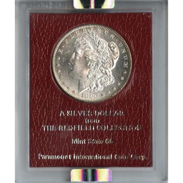 1880 S $1 Redfield Hoard Morgan Dollar NGC MS63