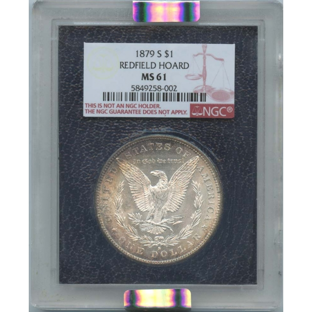 1879-S $1 Morgan Dollar Redfield Hoard NGC MS61