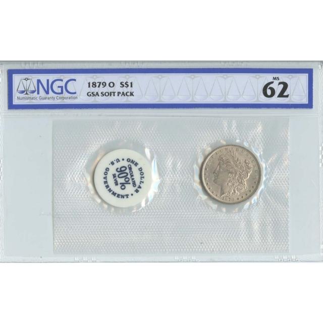 1879-O Morgan Dollar GSA SOFT PACK S$1 NGC MS62