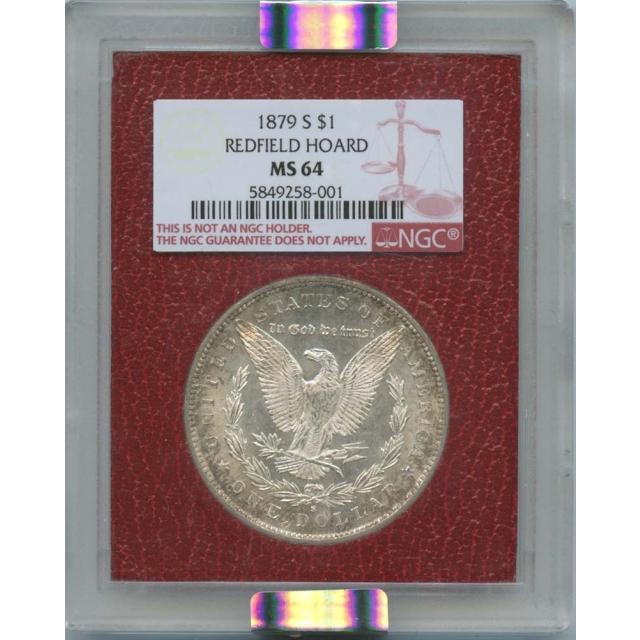 1879-S $1 Morgan Dollar Redfield Hoard NGC MS64