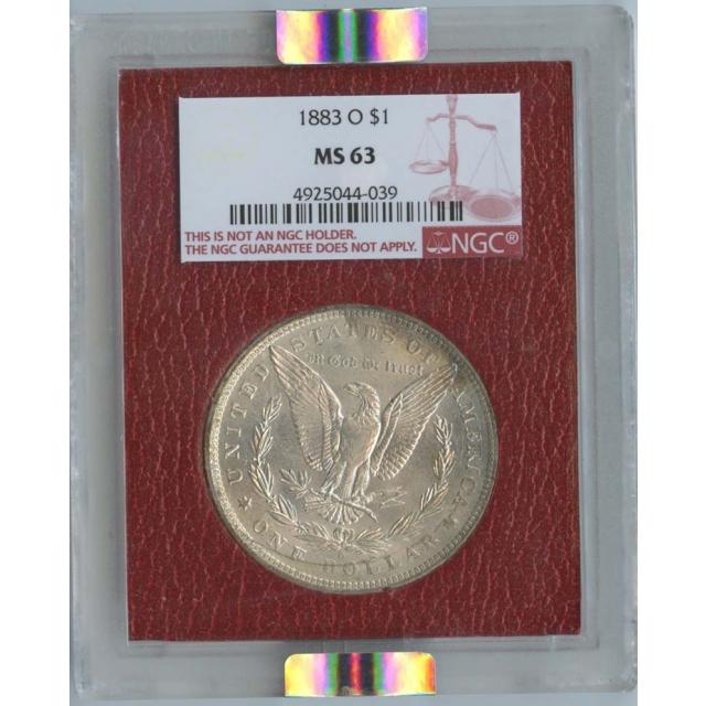 1883-O Morgan Dollar S$1 NGC MS63 Paramount