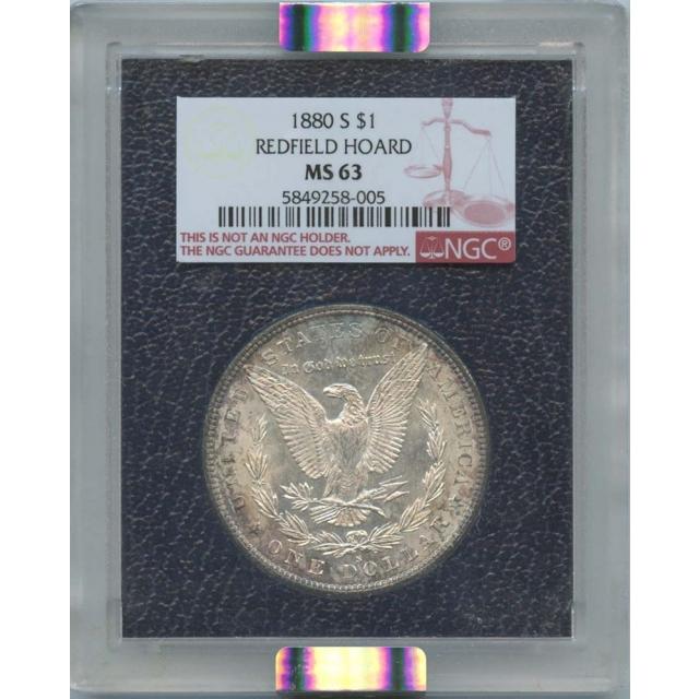 1880 S $1 Morgan Dollar Redfield Hoard NGC MS 63