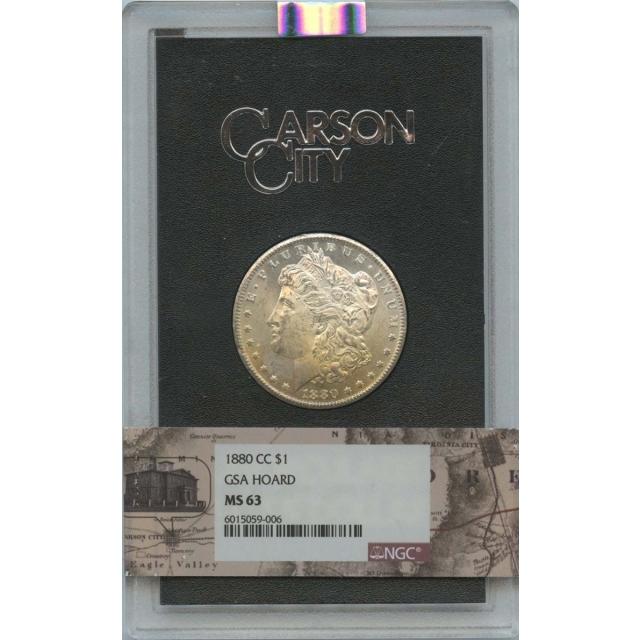 1880-CC Morgan Dollar GSA $1 NGC MS63 Carson City Label