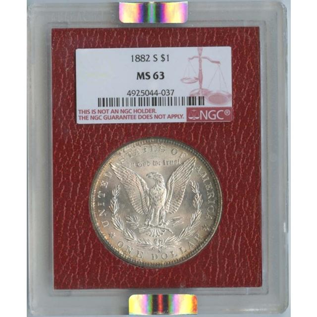 1882-S Morgan Dollar S$1 NGC MS63 Paramount
