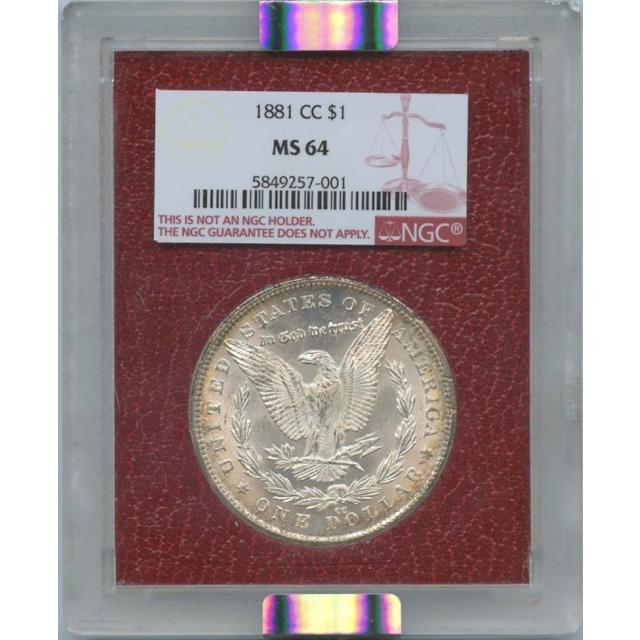 1881-CC $1 Morgan Dollar Paramount   NGC MS64