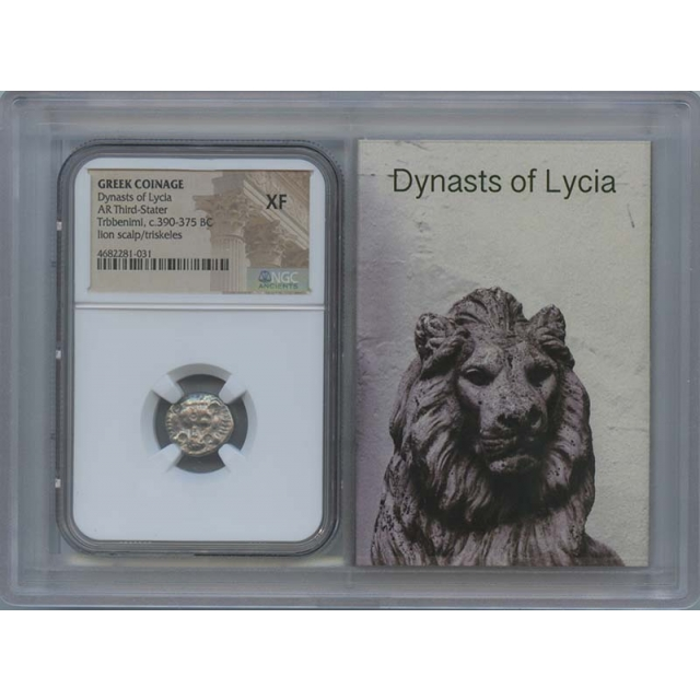390-375 BC Dynasty of Lycia AR Third Stater NGC XF 40 Story Vault