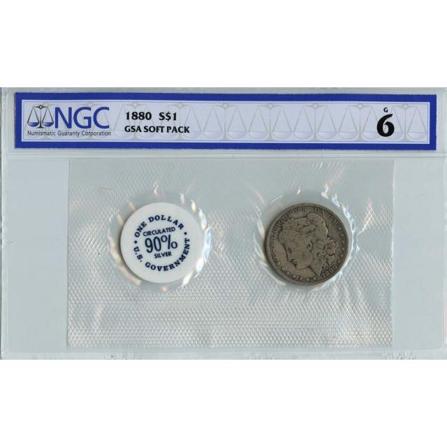 1880 Morgan Dollar GSA SOFT PACK S$1 NGC G6