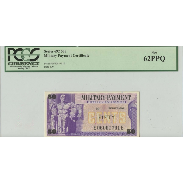 Series 692 50 Cent Military Payment PCGS 62 PPQ