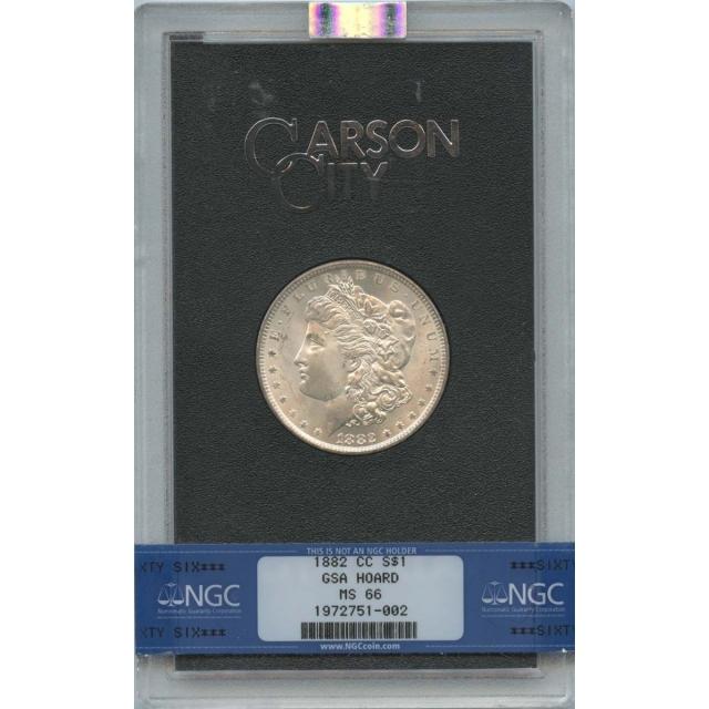 1882-CC Morgan Dollar GSA HOARD S$1 NGC MS66