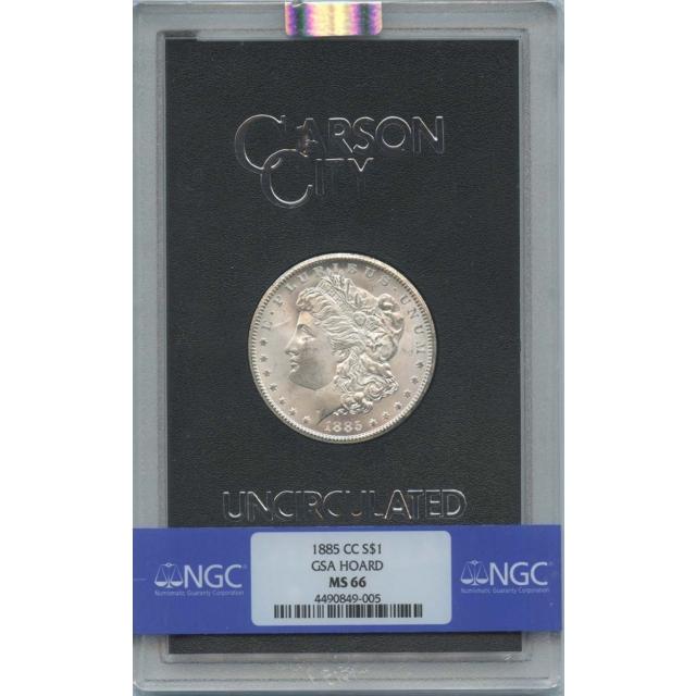 1885-CC Morgan Dollar GSA HOARD S$1 NGC MS66