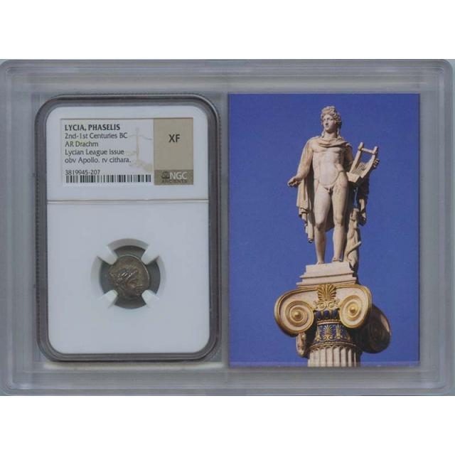 2nd-1st Centuries BC LYCIA, PHASELIS AR Drachm NGC XF40 Story Vault