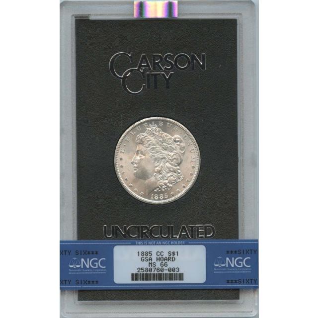 1885-CC Morgan Dollar GSA Hoard NGC MS66