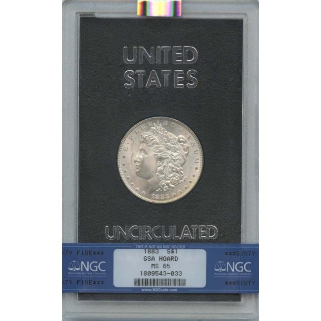 1883 Morgan Dollar GSA HOARD S$1 NGC MS65