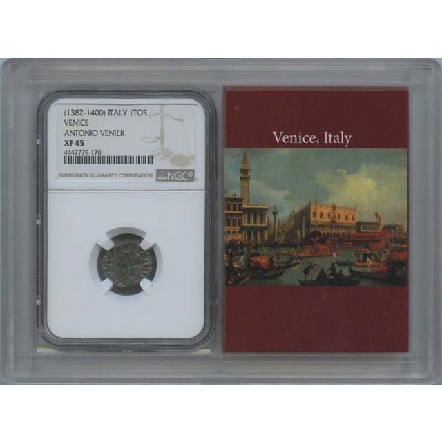 1382-1400 Venice Italy 1 TOR Antonio Venier NGC XF45 Story Vault